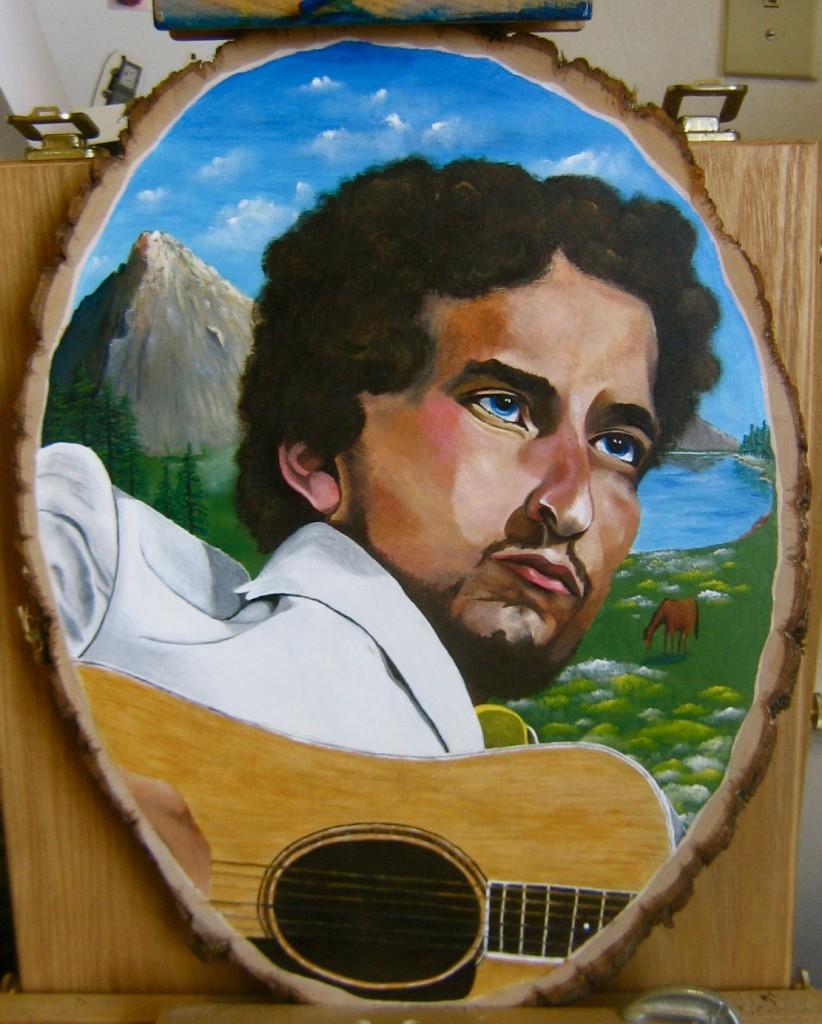 Acrylic on wood cut panel